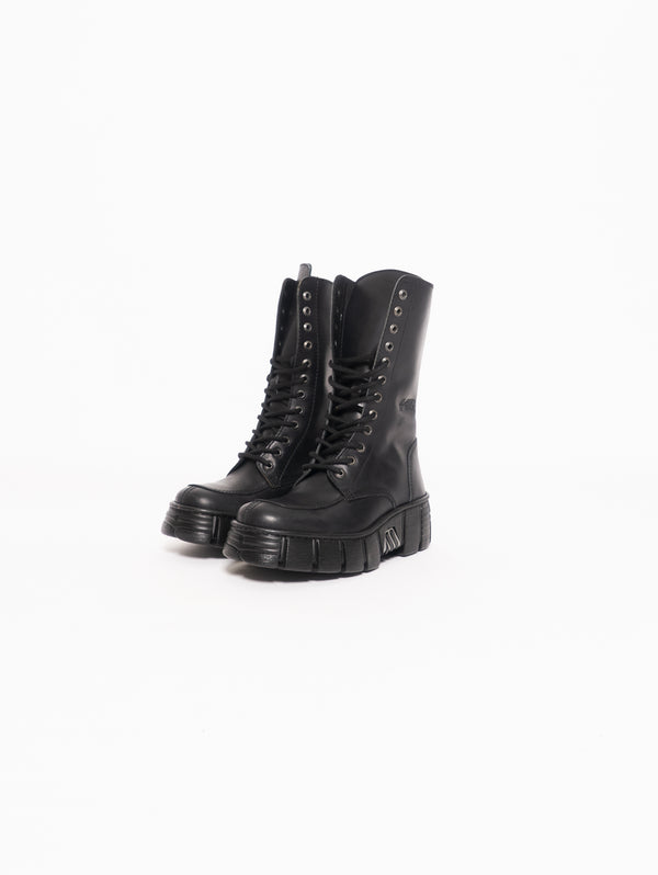 High Boot with Carrarmato - Black