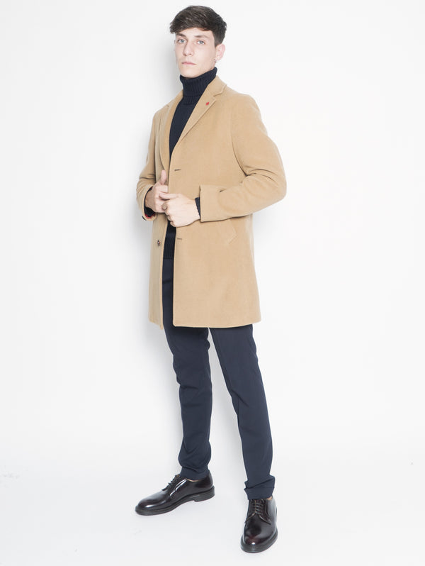 MANUEL RITZ-Cappotto in misto lana Beige-TRYME Shop