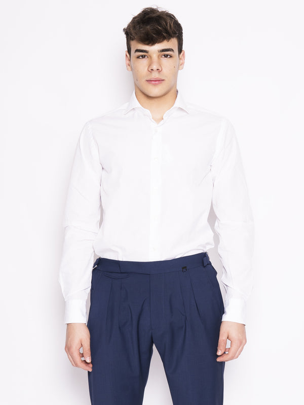 XACUS-Camicia Oxford Bianco-TRYME Shop