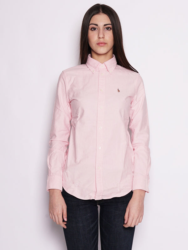RALPH LAUREN-Camicia Oxford Rosa-TRYME Shop
