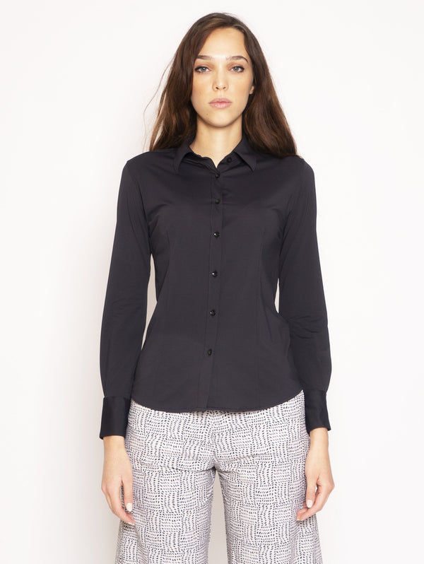 RRD-Camicia super stretch - Nero-TRYME Shop
