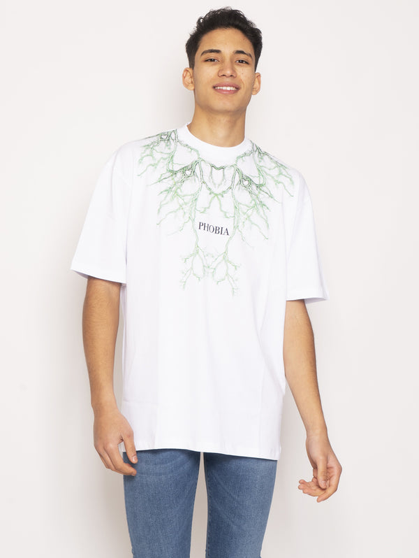 PHOBIA-T-shirt con Stampa Bianco-TRYME Shop