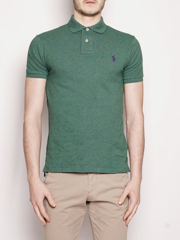 Polo in piqué Slim-Fit Verde-Polo-RALPH LAUREN-TRYME Shop