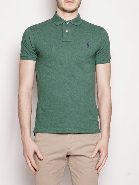 Polo in piqué Slim-Fit Verde