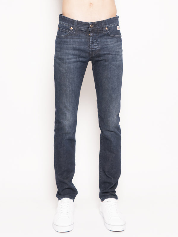 ROY ROGERS-Jeans Stretch Weared 3 Blu-TRYME Shop
