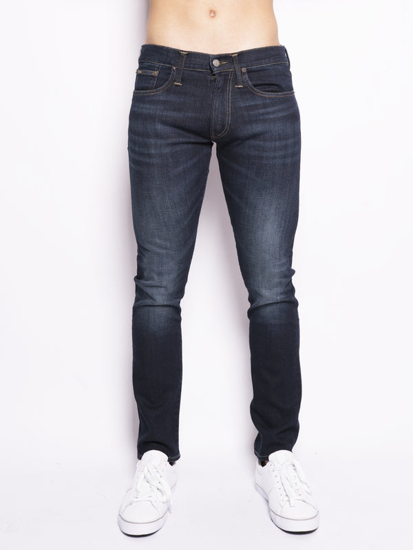 RALPH LAUREN-Jeans Slim Stretch Blu-TRYME Shop