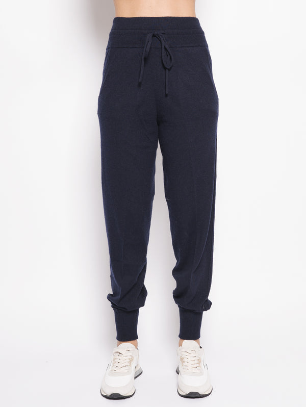 TWIN SET-Pantaloni Jogging Blu-TRYME Shop