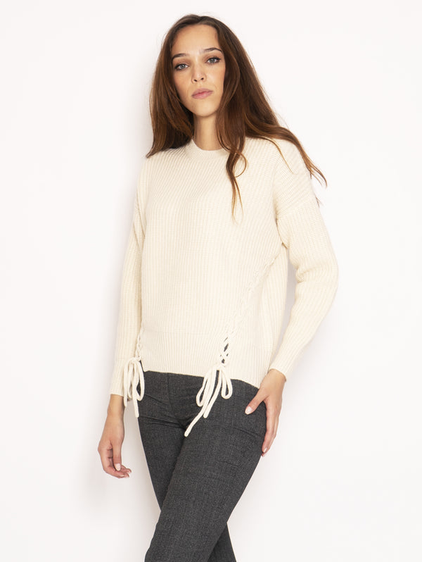 Ribbed Sweater - Cream