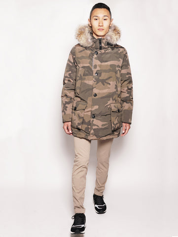 WOOLRICH Camou Arctic Parka Brown Camou Trymeshop.it
