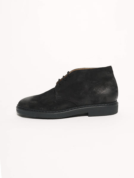 Duca di Wells Stivaletto in pelle oliata Nero Trymeshop.it
