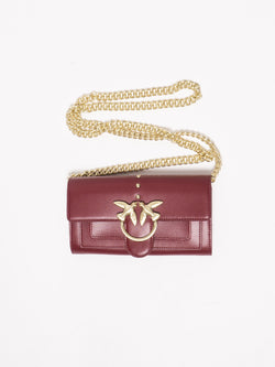 PINKO-Portafoglio Houston Wallet with Shoulder Rosso-TRYME Shop