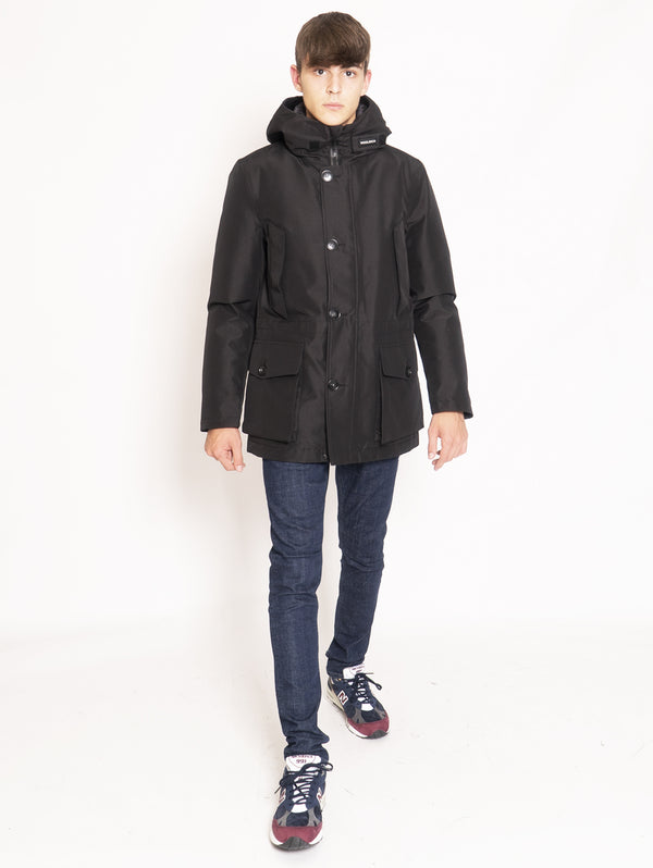 WOOLRICH-Parka in Tessuto Gore-Tex - Nero-TRYME Shop