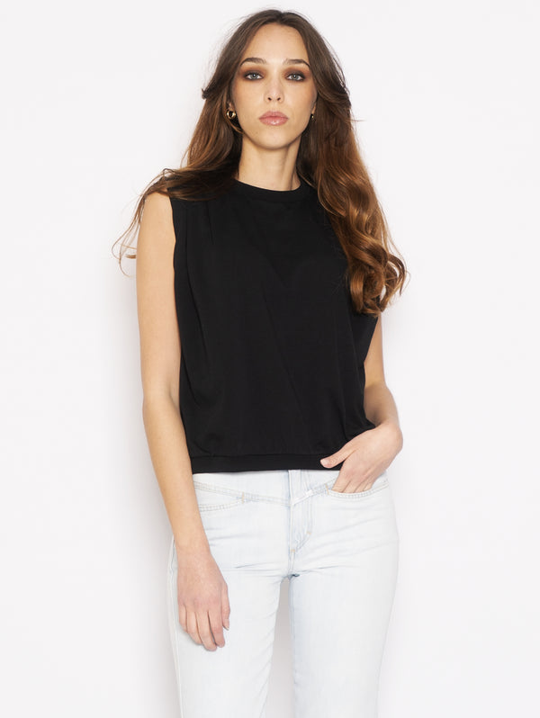 CLOSED-Top Girocollo con Pinces Nero-TRYME Shop