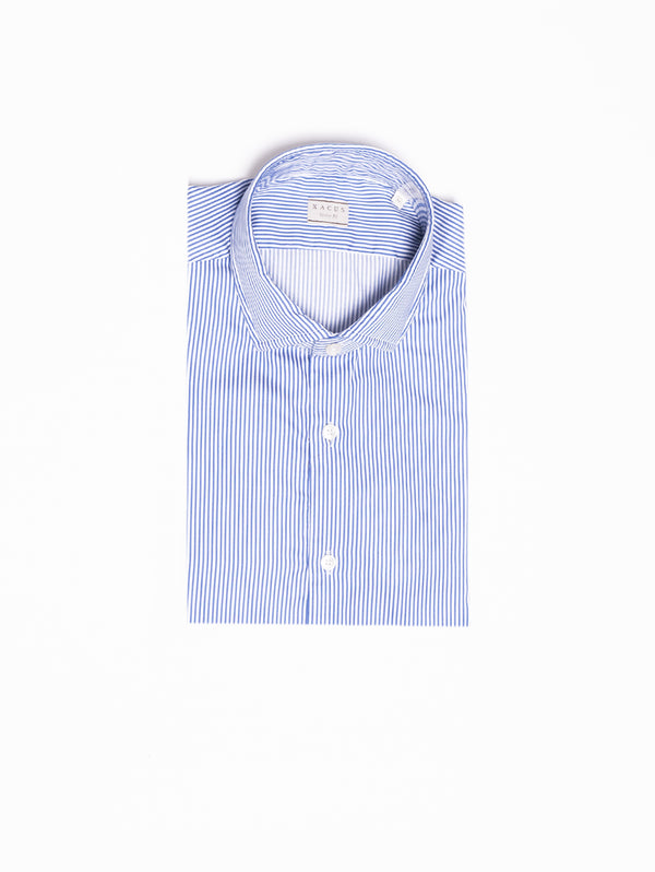 XACUS-Camicia a Righe - Blu-TRYME Shop