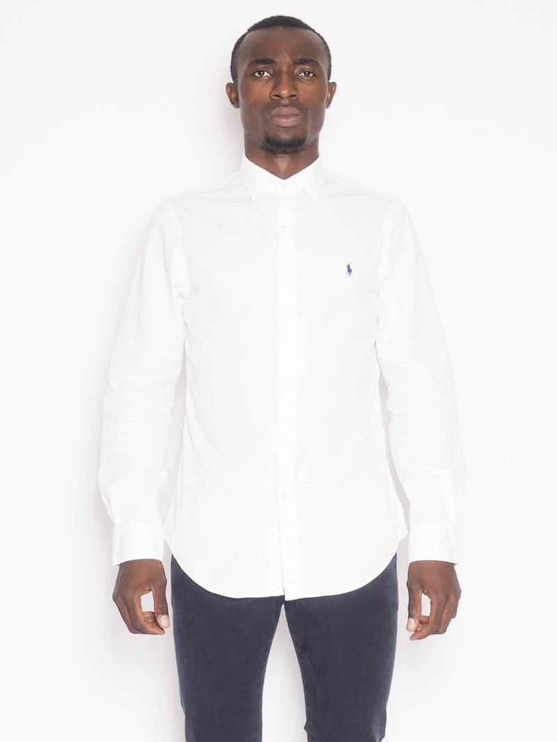 RALPH LAUREN-Camicia Slim Fit Bianco-TRYME Shop