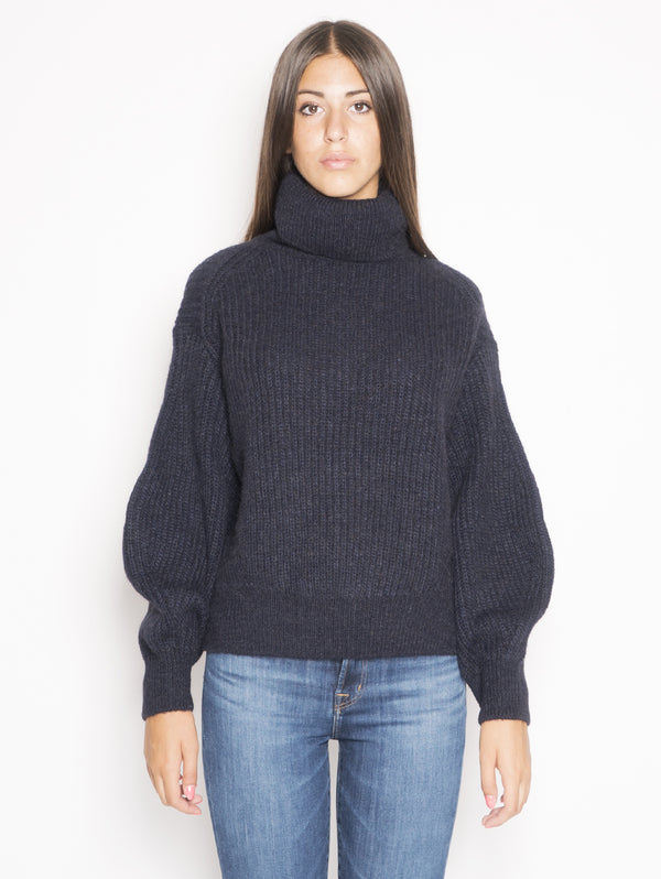 CLOSED-Royal Baby Alpaca Mix Turtle Neck Sweater Blu-TRYME Shop