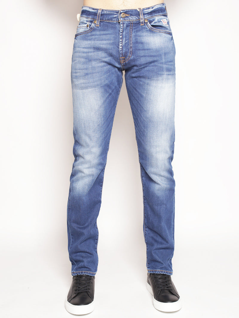 ROY ROGERS-Jeans Cult Superior Denim Elast. Nocaine Denim medio-TRYME Shop