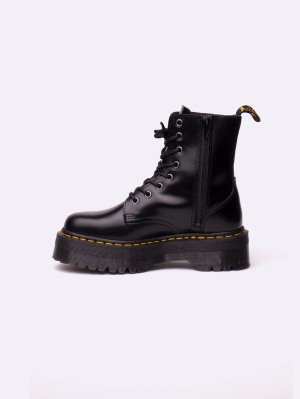 DR. MARTENS-Jadon Polyshed Smooth Nero-TRYME Shop