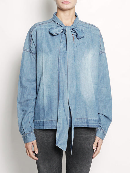 Camicia in denim con fiocco - ONASHE Denim ESSENTIEL TRYMEShop
