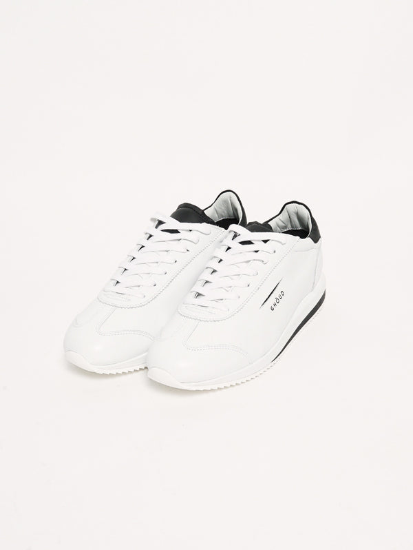 SNEAKERS IN PELLE 45MM Bianco/Nero-Scarpe-GHOUD-TRYME Shop