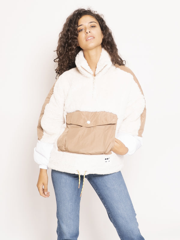 OOF-Felpa Over in Eco Fur - Bianco-TRYME Shop