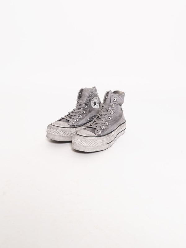 Chuck Taylor All Star Lift Smoked Canvas High Top Grigio