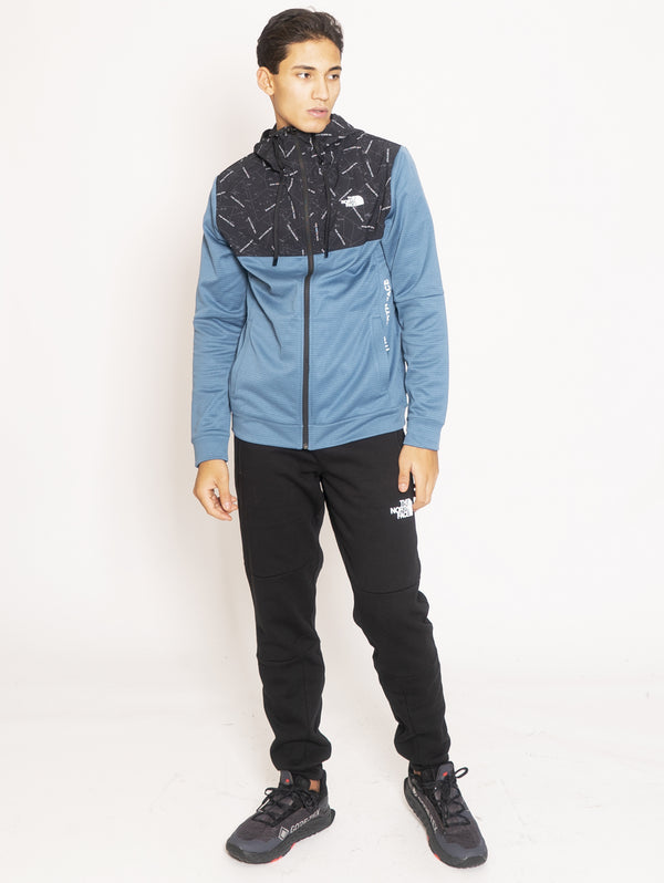 THE NORTH FACE-Felpa con inserti riflettenti - Turchese-TRYME Shop