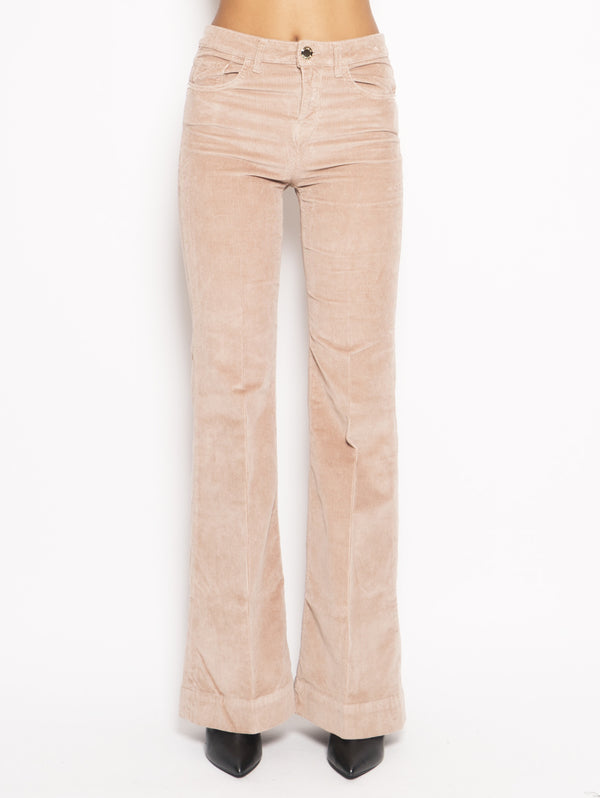 PINKO-Pantalone in Velluto Fiona Rosa-TRYME Shop