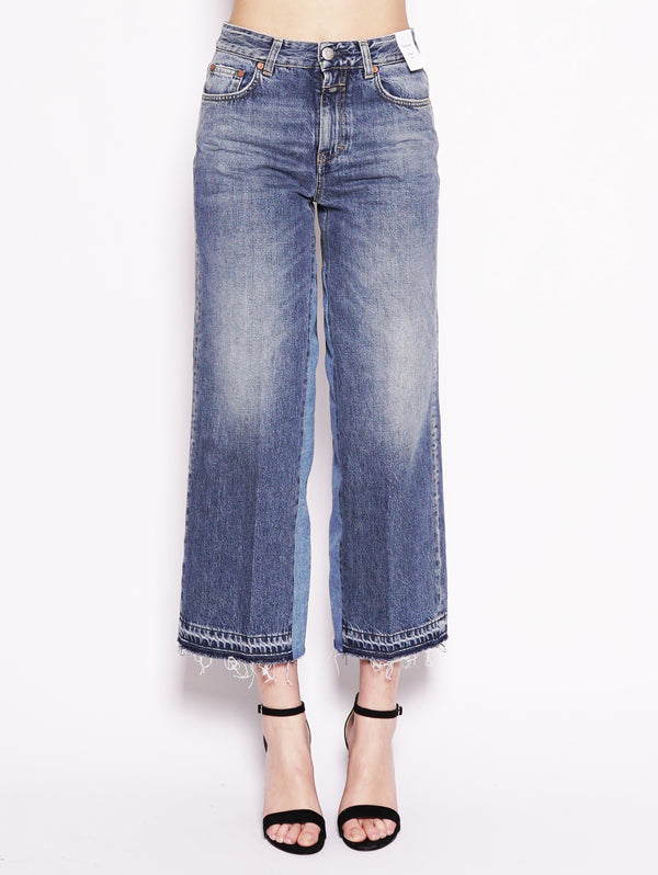 CLOSED-Jeans con Lunghezza Cropped Glow Blu-TRYME Shop