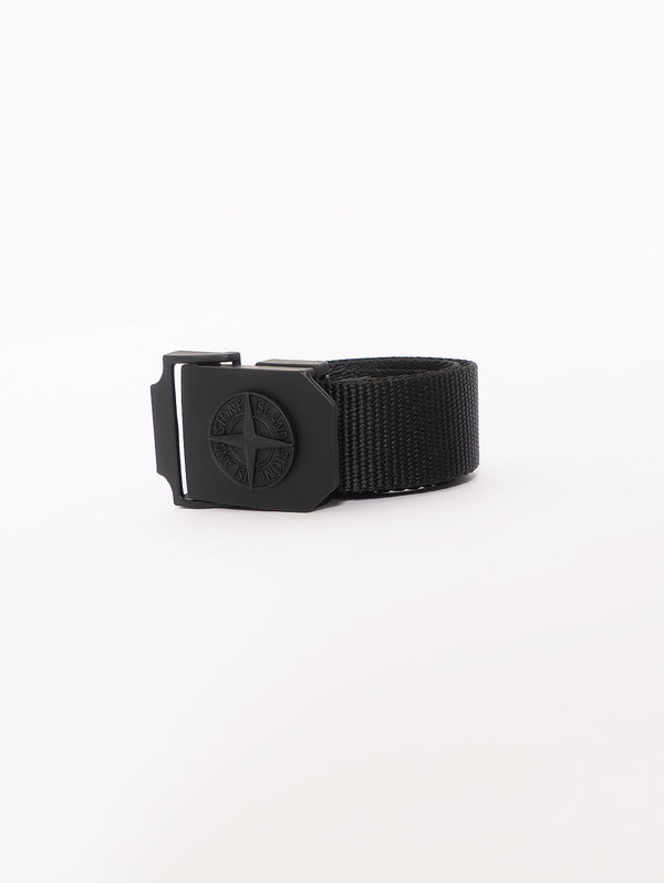 STONE ISLAND-Cintura in Nylon 94071 Nero-TRYME Shop