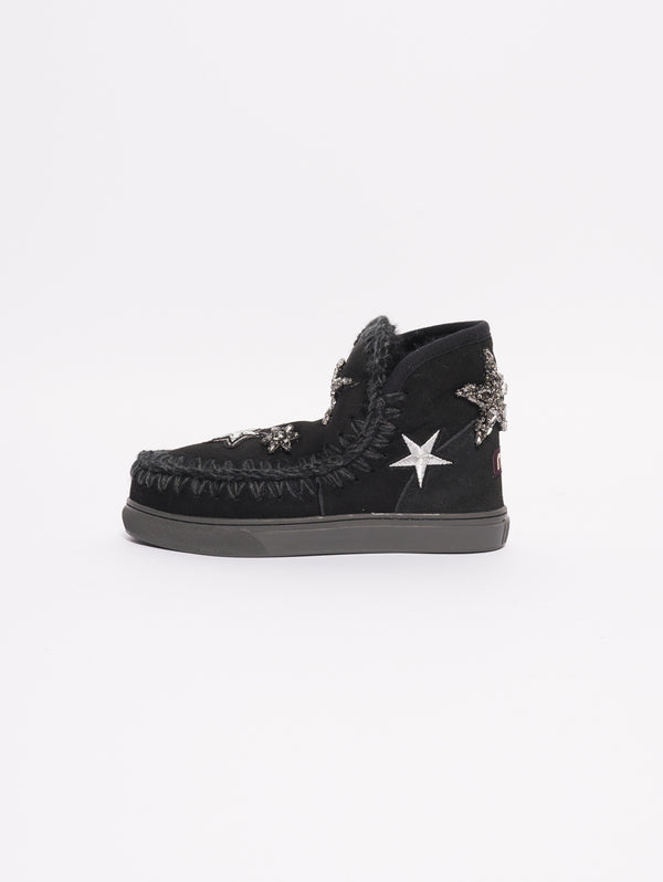 Eskimo Sneaker Star Patches Nero-Scarpe-MOU-TRYME Shop