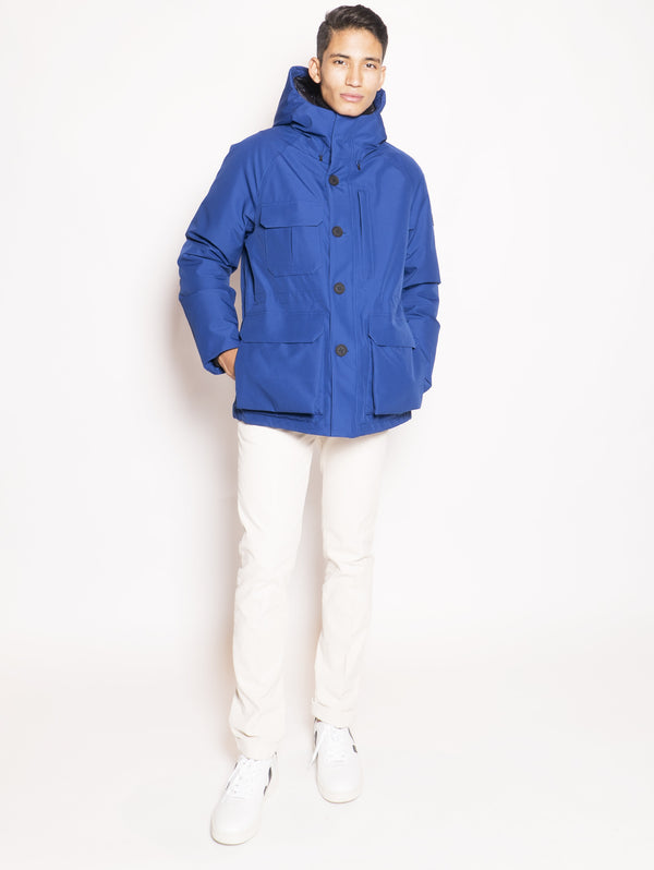 WOOLRICH-Giaccone in Gore-Tex Blu-TRYME Shop