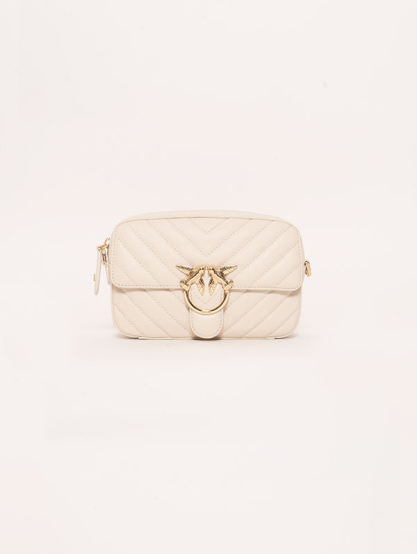 Borsa Motivo Chevron Square Mix Bianco