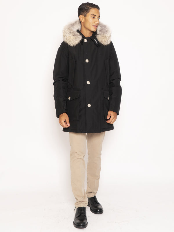 WOOLRICH-Giaccone Parka in Ramar - Nero-TRYME Shop
