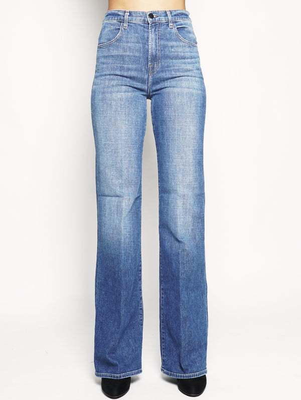JOAN HIGH-RISE STRAIGHT WIDE LEG IN STRIKER INDIGO-Jeans-J BRAND-TRYME Shop