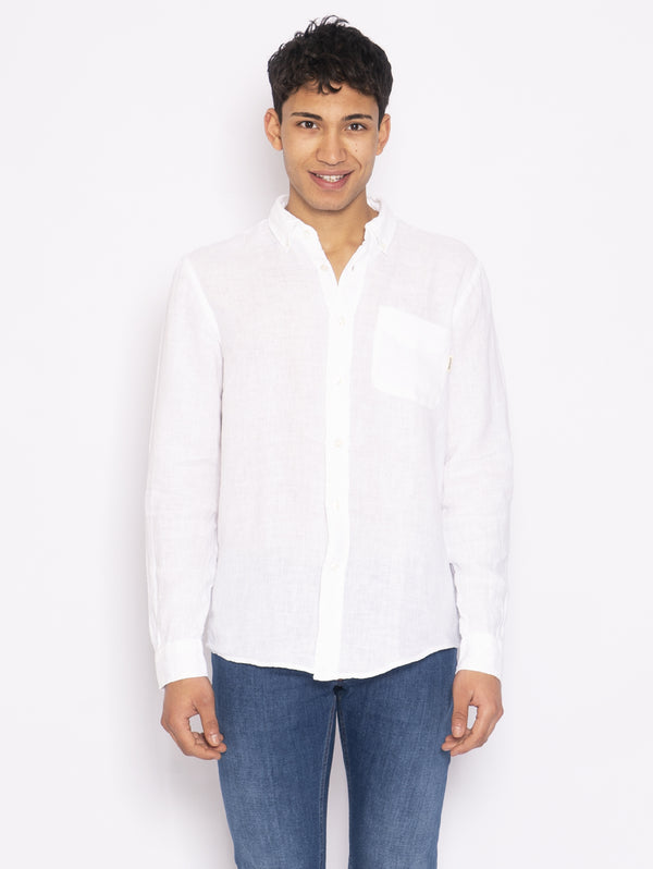 ROY ROGERS-Camicia in Lino Bianco-TRYME Shop