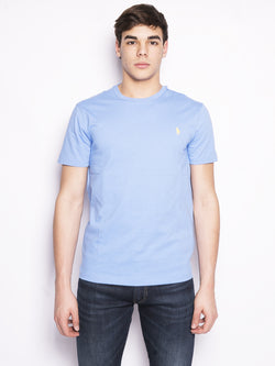RALPH LAUREN-T-Shirt in Cotone Celeste-TRYME Shop