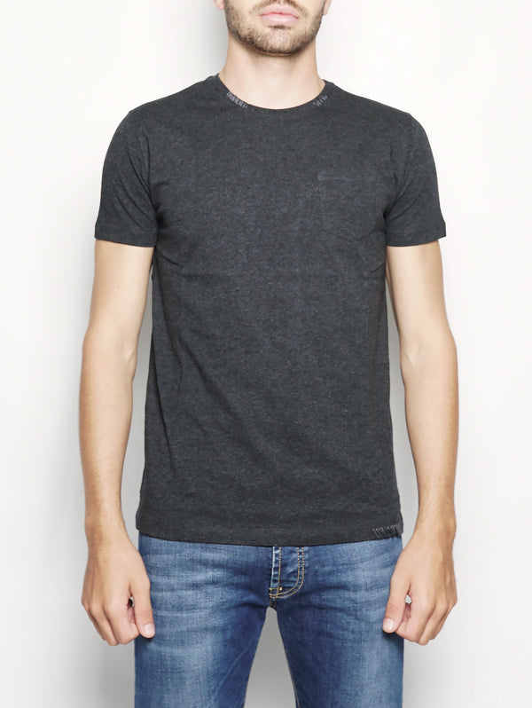 THORLEY 573 - T-shirt con taschino ANTRACITE-T-shirt-40WEFT-TRYME Shop
