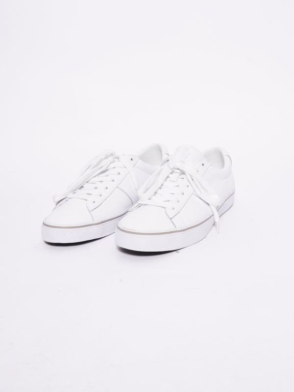 Sneaker Sayer basse in vitello Bianco-Scarpe-RALPH LAUREN-TRYME Shop