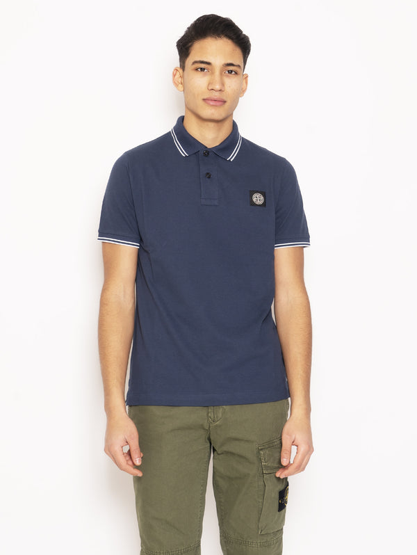 STONE ISLAND-Polo Slim Fit Blu-TRYME Shop