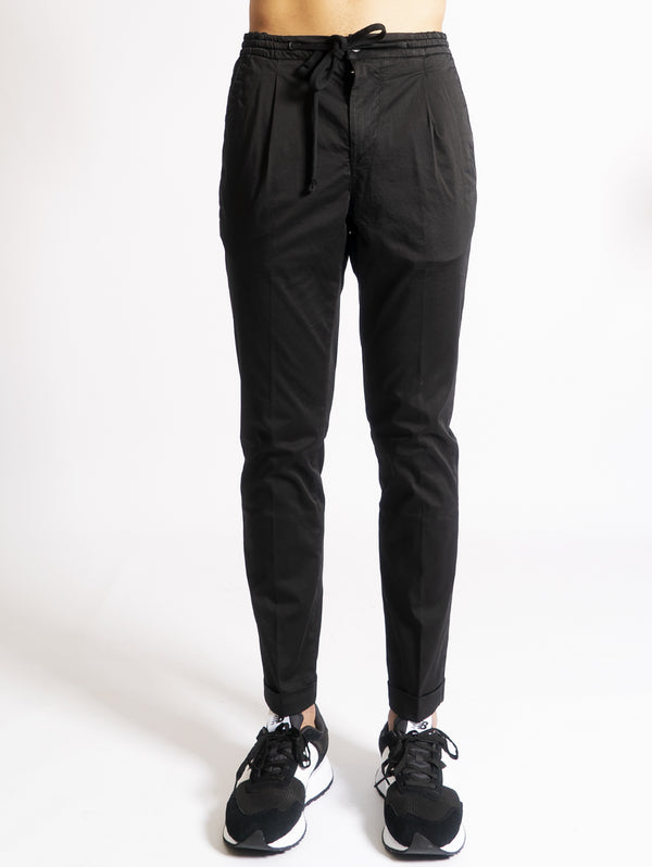 OAKS-Pantaloni con Coulisse - Nero-TRYME Shop