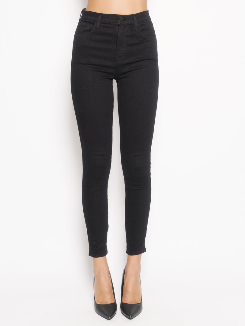 J BRAND-Jeans Leenah High Rise Ankle Skinny Nero-TRYME Shop