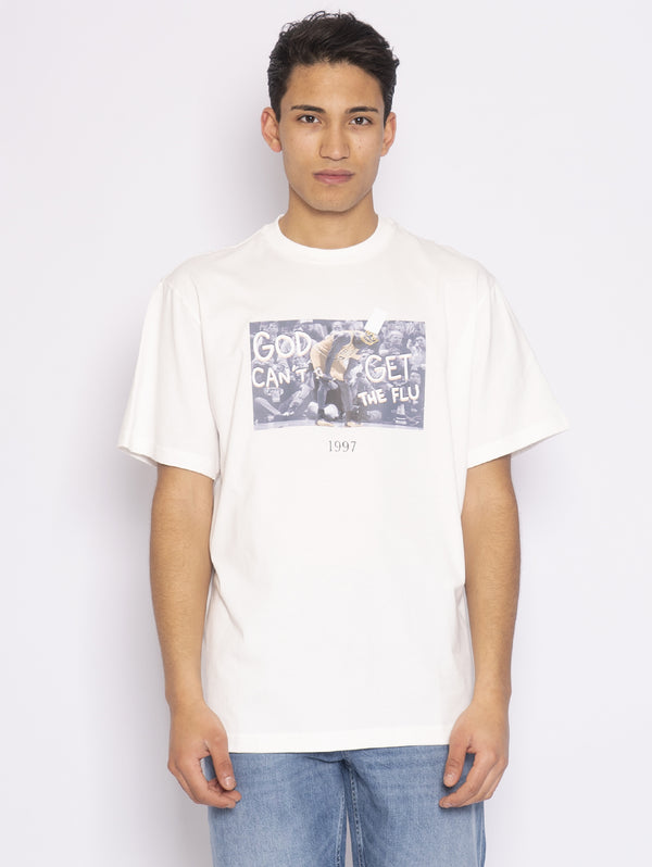 THROWBACK-T-Shirt con Stampa Michael Jordan Bianco-TRYME Shop