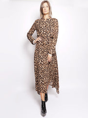 Abito longuette animalier - Rus Uneven Hem Smocked Dress Animalier