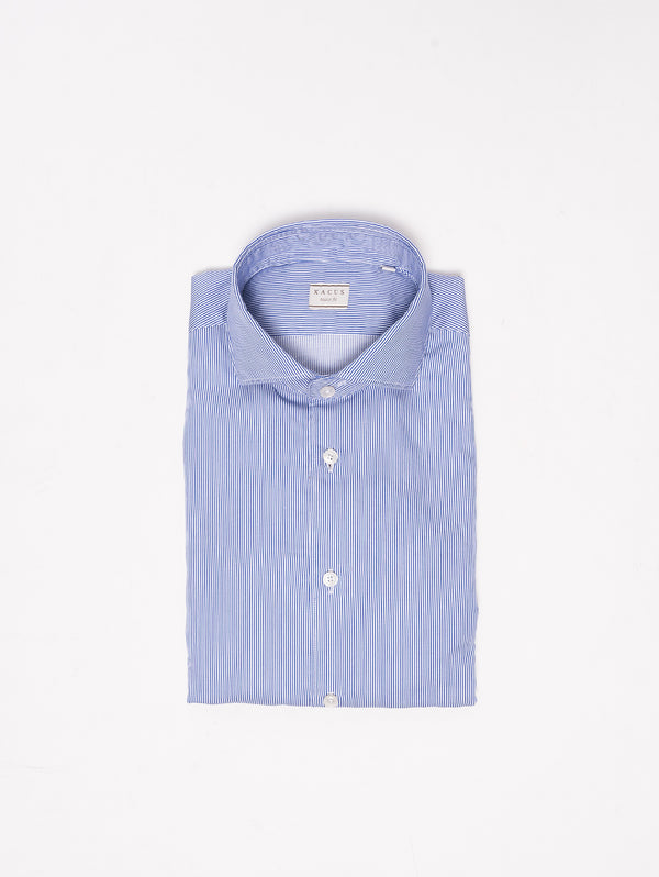 XACUS-Camicia a righe - 722ML 51141 Blu-TRYME Shop