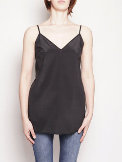 FEDERICA TOSI-Top in seta Nero-TRYME Shop
