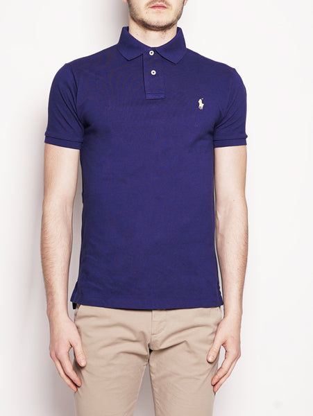 Polo in piqué Slim-Fit Blu Royal