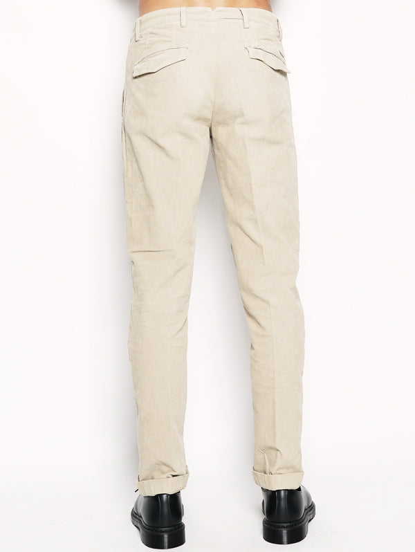 Alan - Pantalone chinos in velluto Beige-Pantaloni-40WEFT-TRYME Shop