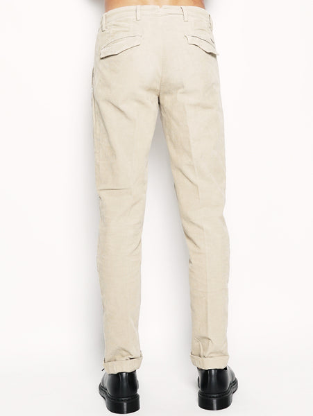 40WEFT Alan - Pantalone chinos in velluto Beige Trymeshop.it