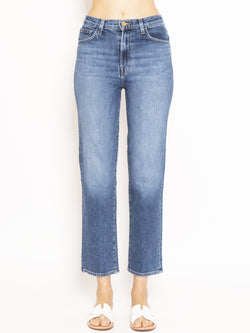 J BRAND-Jeans Sostenibile Jules High Rise Ankle Straight Blu-TRYME Shop